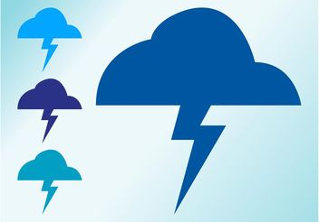 Thunder Clouds - vector gratuit #159067