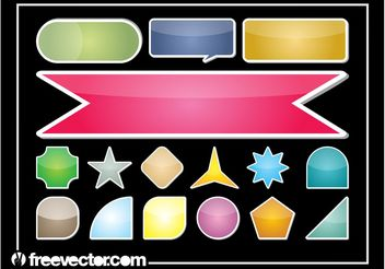 Colorful Sticker Set - Kostenloses vector #159127