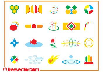 Colorful Icon Designs - Free vector #159137