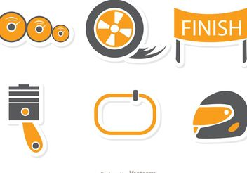 Racing Icon Vector Pack - vector gratuit #159147