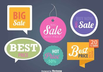 Price and advertising signs templates - Free vector #159177