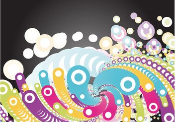 Groovy Circles - Free vector #159277