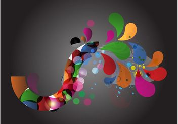 Colorful Swirls Layout - Free vector #159287