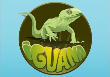 Iguana Layout - vector gratuit #159317