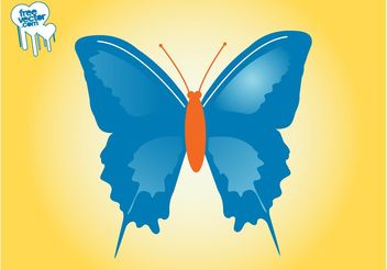 Butterfly Vector Layout - vector gratuit #159387