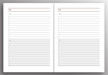 Daily Planner Vector - Free vector #159397