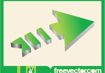 3D Arrow Layout - Kostenloses vector #159407
