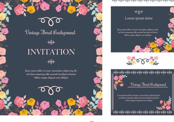 Floral Invitation Background - Free vector #159417