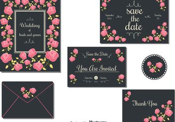 Wedding Invitation Cards - vector gratuit #159437