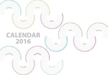 Vector Waves Calendar 2016 - Kostenloses vector #159457
