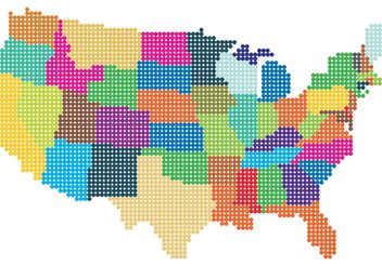US Dotted Map Vector - бесплатный vector #159537