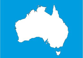 Map Of Australia - vector #159587 gratis