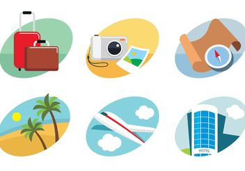 Travel Flat Icons - vector gratuit #159597