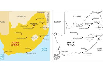 South Africa Vector Map - Kostenloses vector #159637