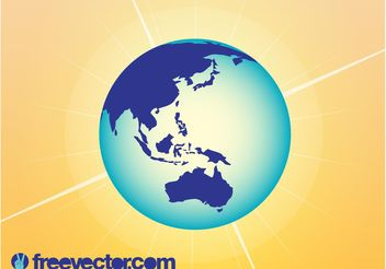 Australia And Asia Globe - vector gratuit #159657