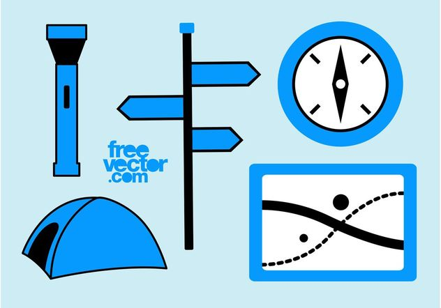 Free Camping Icons - vector gratuit #159697