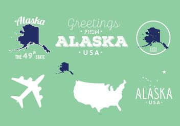 Alaska Badges - Free vector #159727