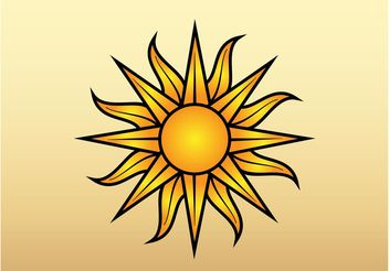 Sun Vector Graphic - vector gratuit #159737