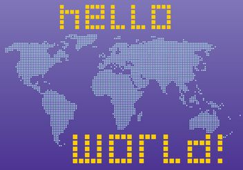 Hello World - vector gratuit #159897