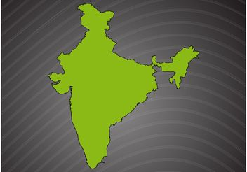 India Vector Map - vector #159907 gratis