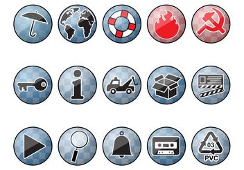 Shiny Round Icons - vector gratuit #159947