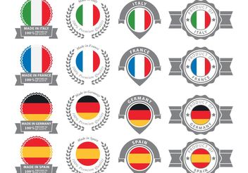 European Badges - vector gratuit #159957