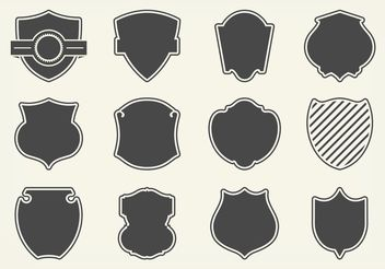 Free Vector Shield Shapes - бесплатный vector #160077