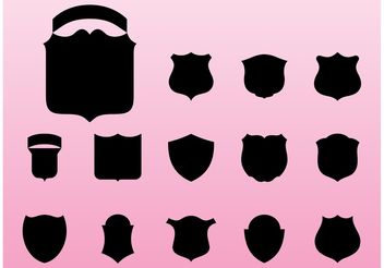 Shield Silhouettes - vector #160147 gratis