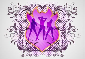 Sexy Girls Shield - Free vector #160197