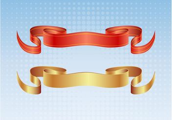 Satin Ribbon Vectors - vector gratuit #160207