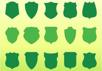 Shields Silhouettes Graphics - Free vector #160247