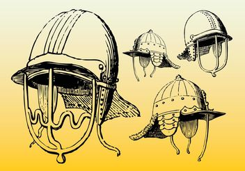 Antique Helmets - vector gratuit #160267