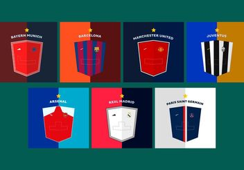 Shields Soccer Jerseys Vectors - бесплатный vector #160337