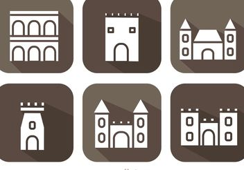 Long Shadow Fort Vectors - vector gratuit #160377