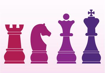 Chess Pieces - vector gratuit #160387