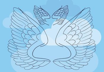 Wings Vector Illustration - vector gratuit #160397