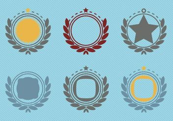 Retro Emblem Badge Decorations - Free vector #160417