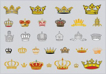 Crowns - vector gratuit #160477