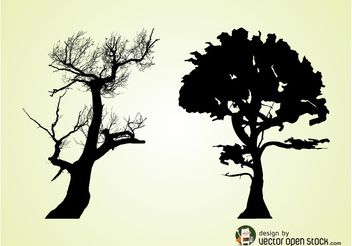 Old Trees - vector gratuit #160497