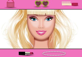 Free Vector Doll Face - vector gratuit #160597