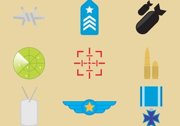 Military Vector Icons - Kostenloses vector #160627