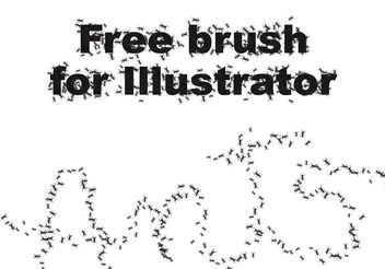 Ant brush - vector gratuit #160647