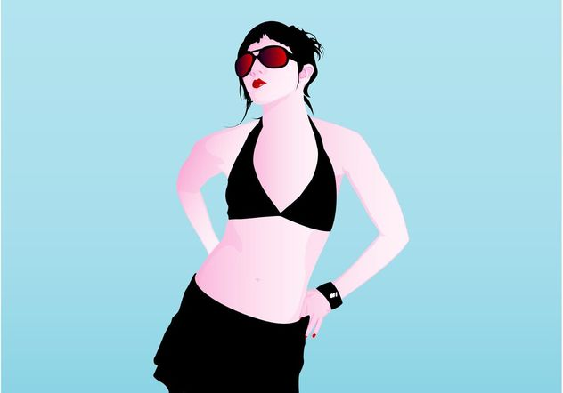 Girl In Bikini - Free vector #160707