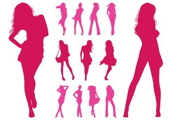 Fashion Models Silhouettes Set - vector gratuit #160727