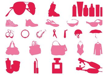 Clothes And Accessories Set - Free vector #160767
