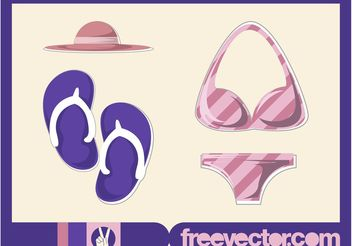 Beach Fashion Vector - Free vector #160807