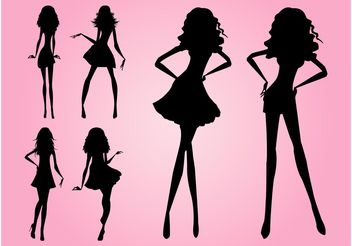 Models Silhouettes - Free vector #160827