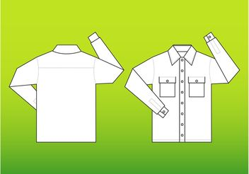 Shirt Vector Template - Free vector #160857