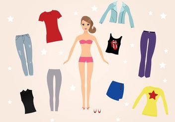 Barbie Doll Vectors - vector gratuit #160887