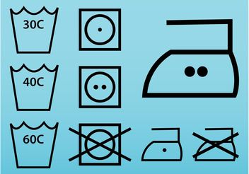 Clothing Label Icons - vector #161007 gratis